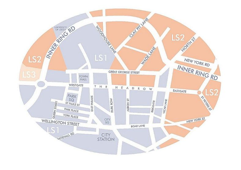 Go Getter Despatch Leeds City Centre Map