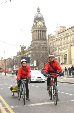 Couriers on Headrow 2005