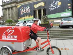 Leeds welcomes same-day cycle couriers